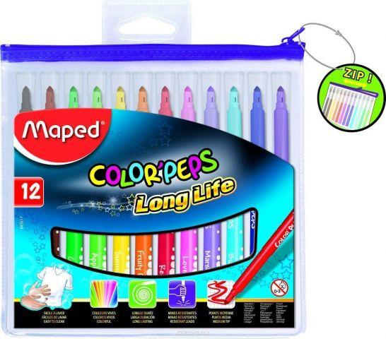 Maped Набор фломастеров 06-24 цвета Color Pep's 12 цветов