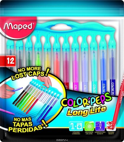 Maped Набор фломастеров 06-24 цвета Color Pep's Long Life 12 цветов