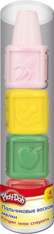 """Мелки восковые Play-Doh """"Пальчиковые"""", 4 шт"""