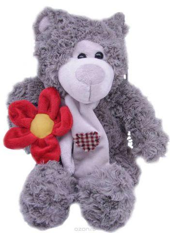 Magic Bear Toys Мягкая игрушка Мишка Эдгар в шарфе с цветком 25 см