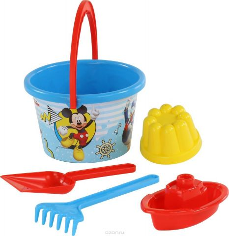 Disney Набор игрушек для песочницы Микки и Веселые гонки №7