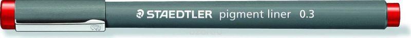 Staedtler Ручка капиллярная Pigment Liner 308 0,3 мм цвет чернил красный