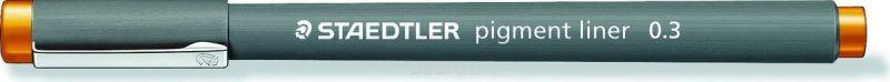 Staedtler Ручка капиллярная Pigment Liner 308 0,3 мм цвет чернил оранжевый