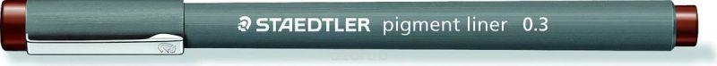 Staedtler Ручка капиллярная Pigment Liner 308 0,3 мм цвет чернил коричневый