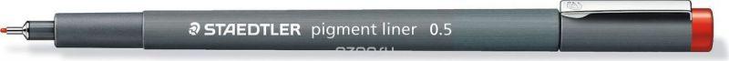 Staedtler Ручка капиллярная Pigment Liner 308 0,5 мм цвет чернил красный