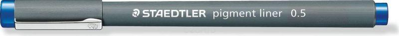 Staedtler Ручка капиллярная Pigment Liner 308 0,5 мм цвет чернил синий