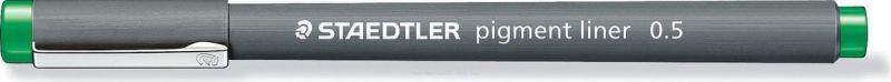 Staedtler Ручка капиллярная Pigment Liner 308 0,5 мм цвет чернил зеленый