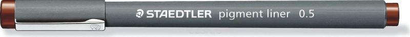 Staedtler Ручка капиллярная Pigment Liner 308 0,5 мм цвет чернил коричневый