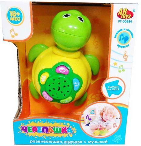 ABtoys Развивающая игрушка Черепашка со световыми и звуковыми эффектами