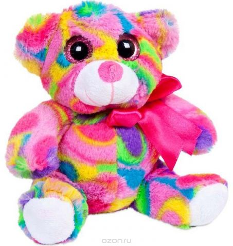 ABtoys Мягкая игрушка Медведь 15 см