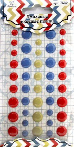 """Точки для рукоделия """"Рукоделие"""", цвет: красный, синий, оливковый, 45 шт"""