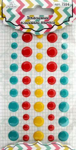 """Точки для рукоделия """"Рукоделие"""", цвет: желтый, красный, бирюзовый, 45 шт"""