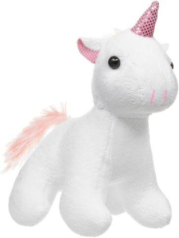 ABtoys Мягкая игрушка Единорог цвет белый 12 см
