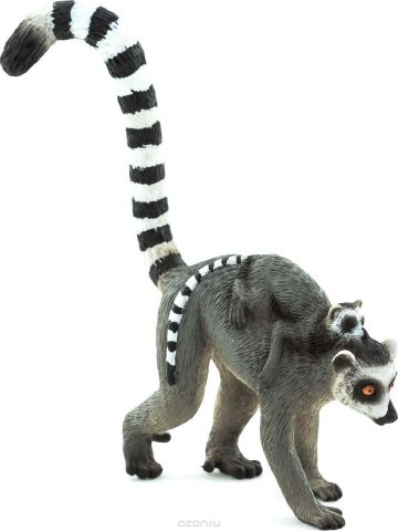 Mojo Фигурка Кошачий лемур с детенышом на спине