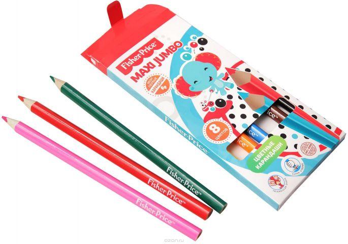 Mattel Набор цветных карандашей Maxi Jumbo Mattel Fisher Price 8 цветов