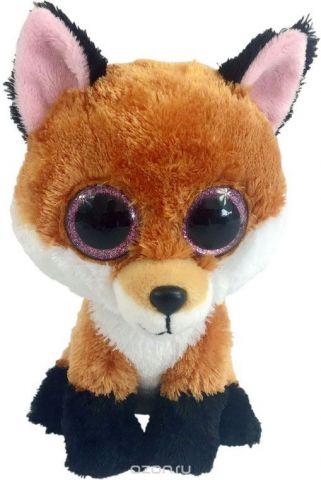 Teddy Мягкая игрушка Лисичка цвет коричневая 15 см