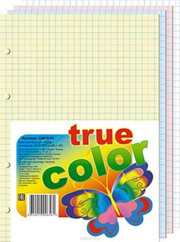 Апплика Блок сменный для тетрадей на кольцах 200 листов 4 цвета