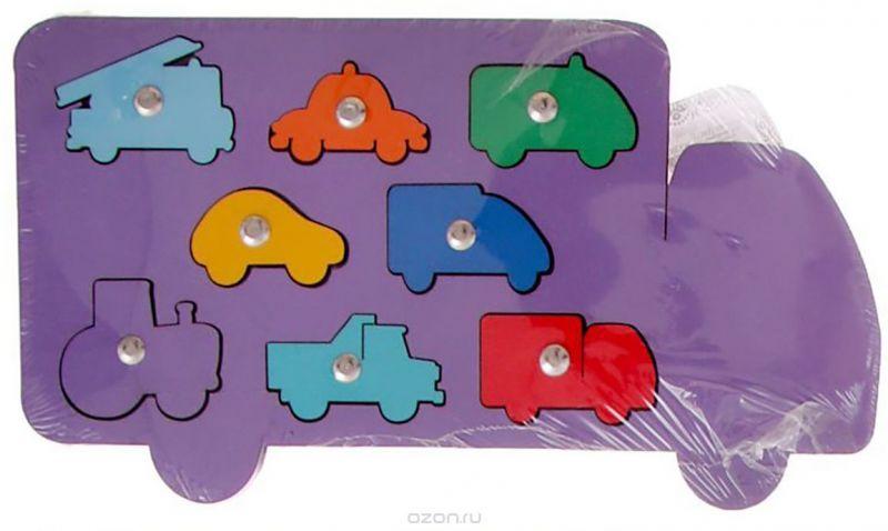 Smile Decor Обучающая игра Машины цвет фиолетовый