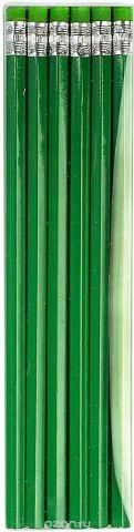 Calligrata Карандаш чернографитный с ластиком твердость HB цвет корпуса зеленый
