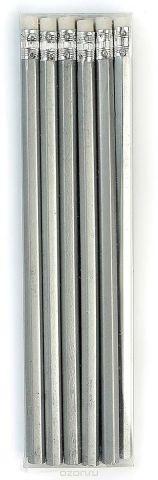 Calligrata Карандаш чернографитный с ластиком твердость HB цвет корпуса серый