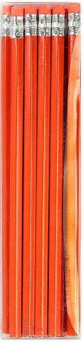 Calligrata Карандаш чернографитный с ластиком твердость HB цвет корпуса оранжевый