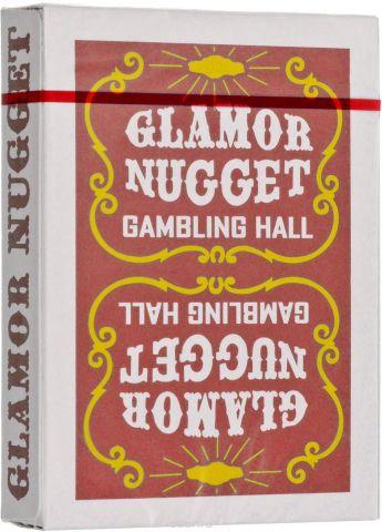 """Карты игральные """"Glamor Nugget"""", цвет: бордовый"""
