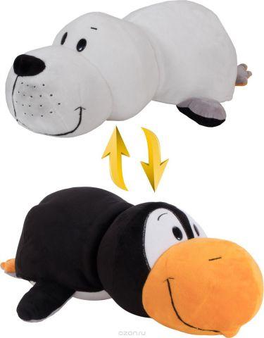 1TOYМягкая игрушкаВывернушка 2в1 Пингвин-Морской котик 20 см