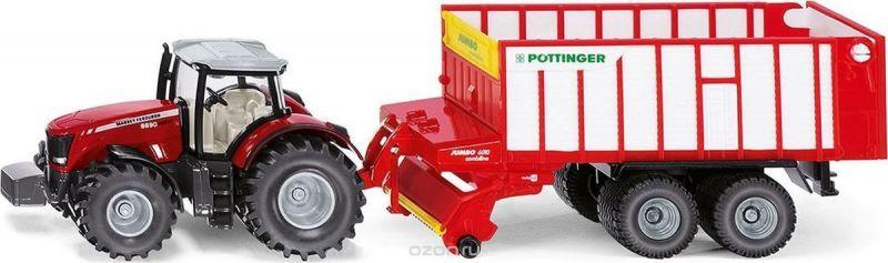 Siku Трактор Massey Ferguson с кузовом Poettinger Jumbo