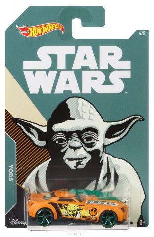 Hot Wheels Star Wars Трековая машинка Yoda Barbaric