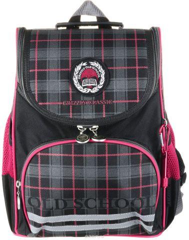 Grizzly Рюкзак школьный с мешком цвет черный красный RA-878-1