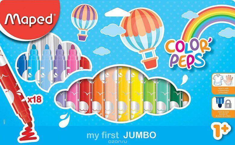 Maped Color Peps Набор фломастеров Jumbo 18 шт