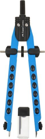 Faber-Castell Циркуль Factory Neon цвет корпуса синий