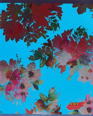 Unnika Land Тетрадь DIY Collection Цветочное великолепие 48 листов в клетку цвет голубой
