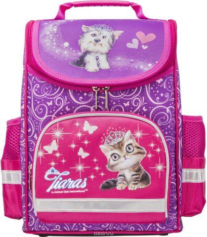 Action! Ранец школьный Animal Club цвет розовый