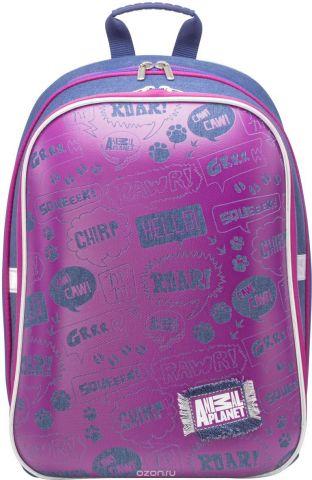 Action! Рюкзак детский Animal Planet цвет розовый синий