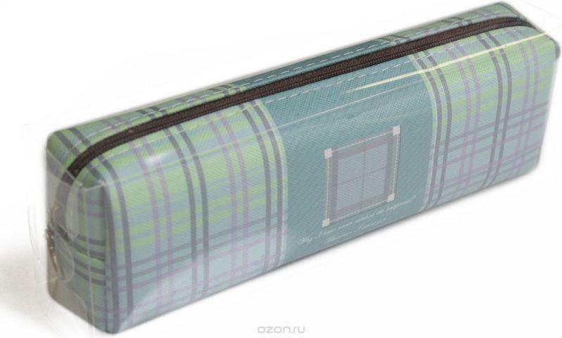 Calligrata Пенал школьный Шотландка цвет зеленый