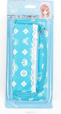 Calligrata Пенал школьный 2 отделения Корона цвет голубой 2924183