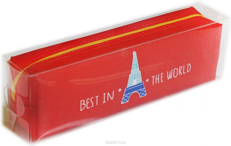 Calligrata Пенал школьный Эйфелева башня цвет красный 2879315