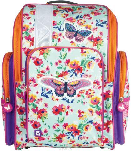 Brauberg Ранец школьный Бабочка в цветах 226918