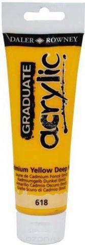 Daler Rowney Краска акриловая Graduate цвет кадмий желтый темный (имитация) 120 мл