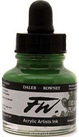 Daler Rowney Чернила акриловые Fw Artists цвет оливковый 29,5 мл