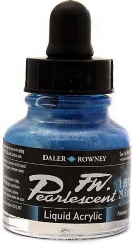 Daler Rowney Чернила перламутровые Fw Artists цвет синий 29,5 мл