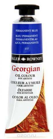 Daler Rowney Краска масляная Georgian цвет голубой перманентный 38 мл
