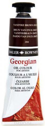 Daler Rowney Краска масляная Georgian цвет коричневый ван дейк (имитация) 38 мл