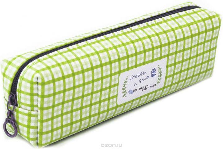 Calligrata Пенал школьный Шотландка цвет зеленый 2873674