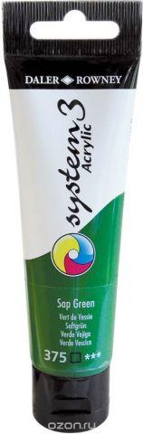Daler Rowney Краска акриловая System 3 цвет зеленый травяной 59 мл