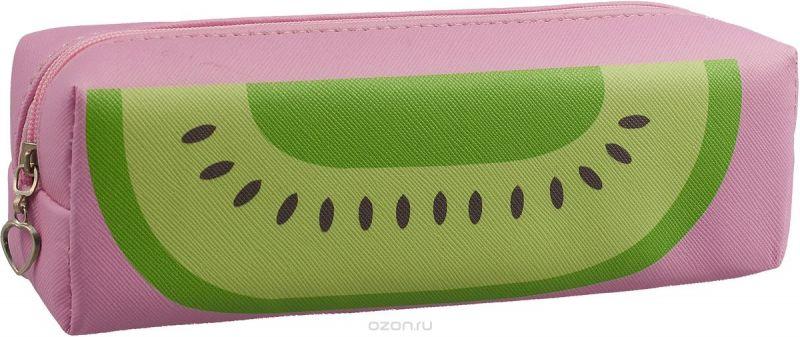 Calligrata Пенал школьный Фрукты/Ягоды цвет розовый