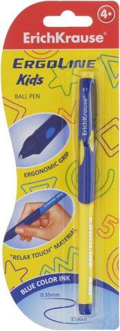 Erich Krause Ручка шариковая ErgoLine Kids цвет желтый 41540