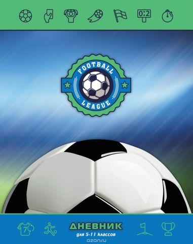 BG Дневник школьный Футбольная лига цвет зеленый, голубой