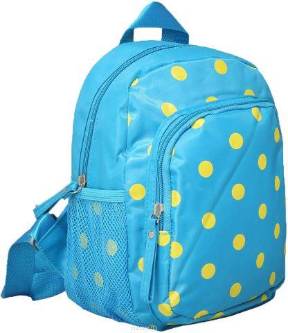 Рюкзак детский Горошек цвет голубой 1470168